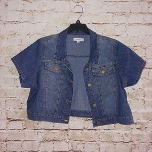 {Simply Be} cropped jean jacket/shrug